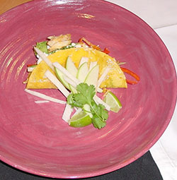 Oregon Dungeness Crab Quesadilla with Apple Jicama Slaw